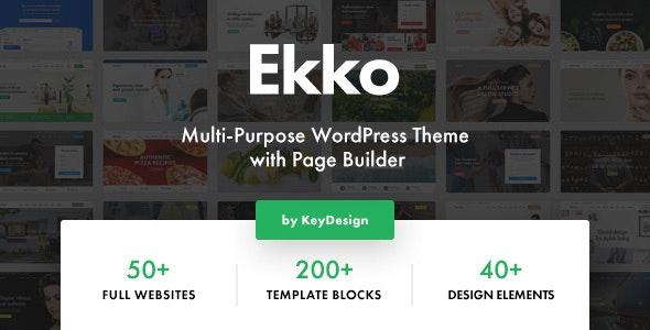 Nulled Ekko v2.6 - Multi-Purpose WordPress Theme with Page Builder