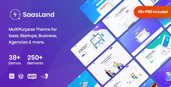 Nulled SaasLand v3.3.4 - MultiPurpose Theme for Saas & Startup WordPress