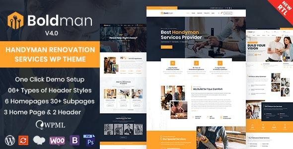 Nulled Boldman v4.1 - Handyman Renovation Services WordPress Theme