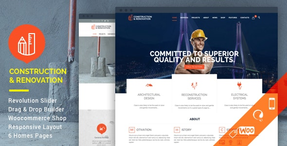 Nulled Construction v18.1 - Construction Building Company WordPress Theme