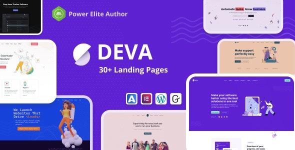 Nulled Deva v1.0.5 - 30+ Landing Pages WordPress Theme