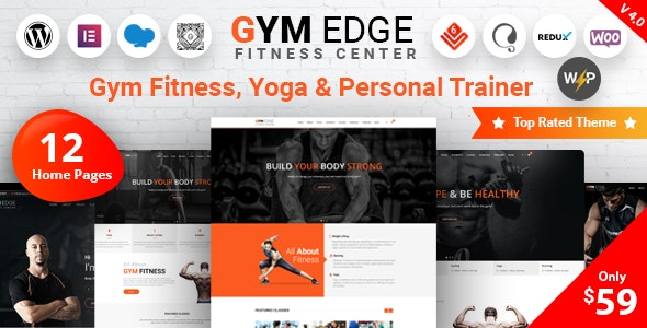 Nulled Gym Edge v4.2.2 - Gym Fitness WordPress Theme
