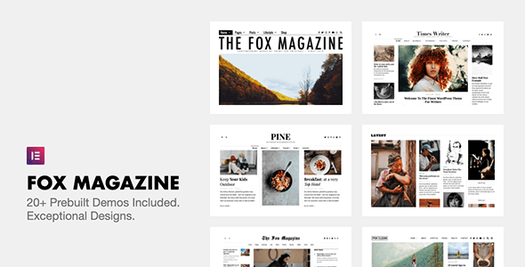 Nulled The Fox v4.6.7.1 - Minimal WordPress Blog Magazine Theme